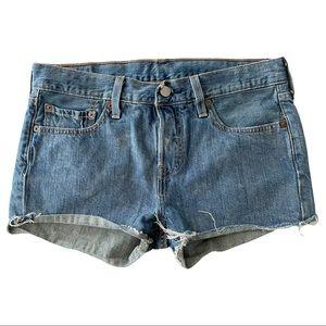 Levi's 501 Jean Shorts Medium Wash 26